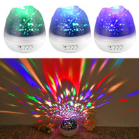 New Rose Flower Star Moon Sky Dream Rotating Projector Lamp ...