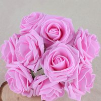50 Pcs Pack Colourfast Foam Roses Artificial Flower Wedding ...