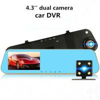 Cámara del coche 4.3 '' Full HD 1080 P Grabador de video DVR del coche Dash Cam 170 grados gran angular de visión nocturna atp226