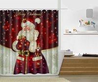 2017 Рождество версия мульти-стили 3D HD цифровой печатный занавески для душа водонепроницаемый влагостойкий ванная комната шторы чехол