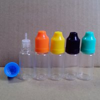 Empty Clear PET 10ml Dropper Bottle Plastic E Liquids Bottle...
