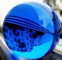 الجملة الجديدة! 40 ملليمتر الآسيوية النادرة الطبيعية الكوارتز الأزرق ماجيك كريستال شفاء سفير الكرة + حامل