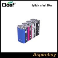 Eleaf Mini istick 10 W Bateria Ismoka Eleaf Mini Istick 1050 mAh Capacidade Da Bateria Com Tensão Ajustável e LED Tela Digtal Bateria Apenas