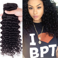 Brazilian Virgin Hair Deep Wave 3 4 Bundles 6A Human Hair Ex...