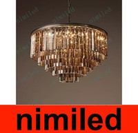 nimi604 RH European American RetroChandeliers Lampada a sospensione Illuminazione a luce per Lobby Restaurant Living Room Crystal Bedroom Villa Lights