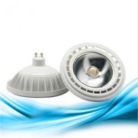 10W Ar111 COB LED Spotlight Ampoules G53 / GU10 Lampe de lumière AC85-265V / DC12V Blanc chaud / blanc froid CE Rosh Éclairage intérieur 15Watt Livraison gratuite
