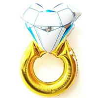 43 인치 재미있는 빅 다이아몬드 반지 풍선 2015 새로운 패션 파티 웨딩 장식 다이아몬드 반지 풍선 제안 만들기 웨딩 선물