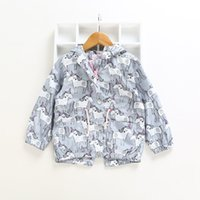 Unicorn Girls Tench Coats Unicornio Prints Girls Clothes for...