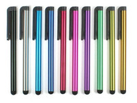 Pluma de la aguja capacitiva de la pantalla de alta sensibilidad táctil de la aguja para iPhone6 6plus Iphone5 4 SamsungGalaxyS5 S4 Nota4 Note3 el envío 100pcs
