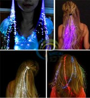 Luminous Braid Flicker Optical Fiber Flash Design Show Hairp...