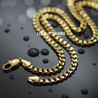 n313-18k oro GF mens catena solida 19,68 pollici Collana di gioielli collegamento barbazzale