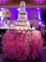 Maßgeschneiderte geraffte Tischdecke Rüschen für Hochzeit Party Ereignis DIY Chiffon Tutu Tischdekorationen Hochzeitsdekoration Freies Verschiffen 2015