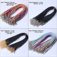 MLJY 9 Stili Catene Nera cera in pelle cordone cordino corda corda 45cm catena aragosta stringata fai da te collane pendenti gioielli accessori all'ingrosso