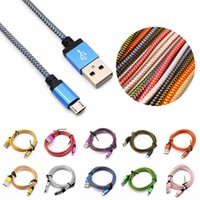 1M 3ft 2M 6ft Strong woven Braid Metal connector Micro USB C...
