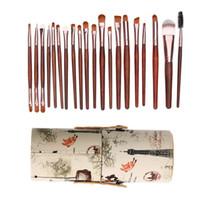 20 قطع ظلال ماكياج فرشاة مجموعة أداة مؤسسة + 1 جولة أنبوب maquiagem أداة الجمال ل عينيه مؤسسة خافي استخدام