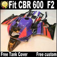 carenados de la motocicleta para HONDA CBR 600 1991 1992 1993 1994 F2 CBR600 91-94 blanco negro púrpura plástico RP14 kit carenado
