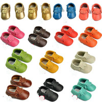 Free UPS Ship 2016 New Tassels Leather Baby Moccasins Soft M...