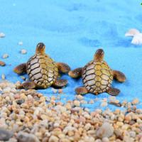 5 adet Deniz Kaplumbağası Peri bahçe Heykelleri Ev Dekorasyon reçine zanaat succulents Akvaryum Tankı Teraryum Gnome Jardin Minyatür Plaj