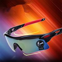 Männer Mode Radfahren Fahrrad Straße Berg Outdoor Sports Fahren Farbfilm Sonnenbrille Sicherheit Männer Fahrer Eyewear UV400 Goggle 12 Teile / los