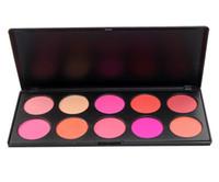 DHL Freies 2016 Neue Professionelle Erröten Palette 10 Farben Make-Up Kosmetische Erröten Bilden Rouge Pulver Palette Set Mit LOGO