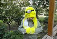도매 재미 있은 봉제 모자 긴 노란색 미니 음소거 동물 장난감 모자 따뜻한 만화 모자 + 장갑 + 스카프 따뜻한 우유 아빠 옐로우 맨 3 표현