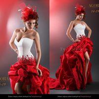Vintage 2020 robes de mariée sans bretelles une ligne haute basse arrière arrière longue taille longue taille et rouge robes de mariée vestido de novia