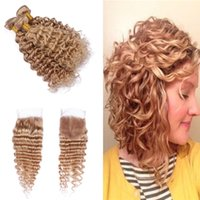 Brazilian Honey Blonde 27 Virgin Hair Weaves With Top Closur...
