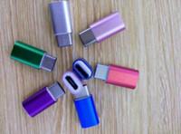 Kleurrijke metalen USB 3.1 Type C Mannelijk naar Micro 5Pin Vrouwelijke Data Charger-adapters voor MacBook OnePlus 2 Xiaomi 4C Power Bank