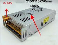 Giriş AC 110 V 220 V 480 W çıkış 20A 0-24 V Ayarlanabilir DC voltaj sabitleme Güvenlik dijital ekran ile anahtarlama güç kaynağı