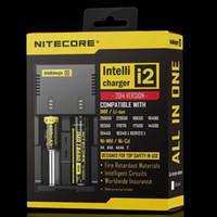 NITECORE I2 Carregador Inteligente Para 18650 14500 16340 26650 Bateria Li-ion Com Código de Segurança Retail Box EUA / UE / AU / UK