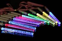 60 pcs lots 18 cm Novos Brinquedos de Natal LEVOU Elogio Brilham Varas Acrílico Bolha Flash Wand Para Crianças Brinquedos Concert Bar Party Supplies