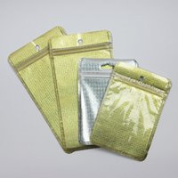Golden Silver Plastic Poly Bags OPP Packing Zipper Lock Pack...