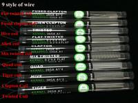 Düz bükülmüş tel Sigortalı clapton bobinleri Hive teller Alien Mix twisted Quad Tiger 9 RBA için Tüp içinde 9 Farklı Isıtma Direnci 118mm Bobin