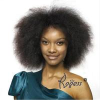짧은 합성 가발 없음 레이스 프런트 가발 변태 스트레이트 카네 칼론 내열성 흑인 여성을위한 아프리카 계 미국인의 가발