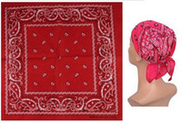 Braccialetto all'ingrosso 100% della bandana del cotone della sciarpa dell'involucro della testa delle bandane, 24pcs / lot trasporto libero