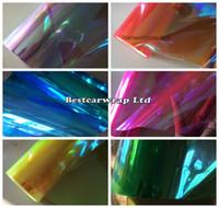 12 ROLL / LOT Chameleon Reflektor Film Tint Taillight / Motorbike Reflektor Lampa tylna Odcień barwiący rozmiar folii 0,3x10m / rolka