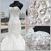 2016 Popular Sparkling Rhinestones Crystals Wedding Dresses ...