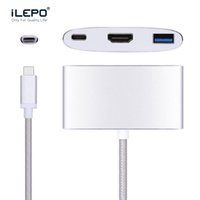 Adattatore USB Multiport USB-C da USB 3.1 Type-C a HDMI USB Femmina USB 3.0 HUB Caricatore OTG da USB 3.0 per Proiettore Macbook