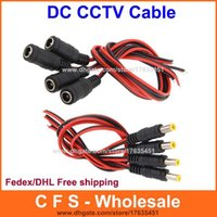 100pcs DC power connector cable 12V monitor connector CCTV S...