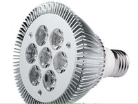 7W PAR30 E27 LED 스포트 라이트 전구 85-265V 110V 220V 7LED SILLLIGHT SPOTLIGHS 7x1W 다운 조명 램프 따뜻한 백색 자연 흰색 시원한 흰색