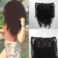 Wholesale 3a hair extensions buy cheap 3a hair extensions from 2016 new coming virgin mongolian human hair 3a 3b 3c afro kinky curly clip in hair extensions for black woman pmusecretfo Images