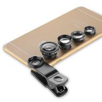 4 in 1 Evrensel 2X Teleskop + Geniş Açı + Marco + Balık Gözü Balık Gözü. iPhone HTC Sony Z2 Cep Telefonları için CL-85-2X. . lens