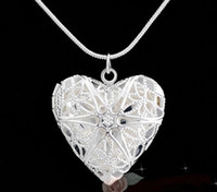 Floating Medaillon Halsketten können herzförmige Foto Halskette Silber Halskette Living Memory Box Pullover Kette Halskette Kettenliebhabers Geschenk öffnen
