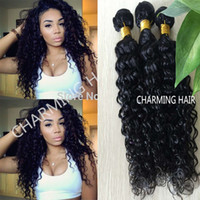 7A unprocessed grade brazilian deep wave curly virgin hair w...