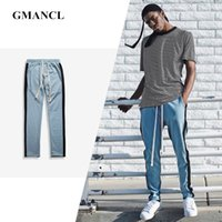 Wholesale- GMANCL Solid men high quality Two color stitching...