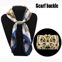 Mix color Hand- painted Butterflies Rhinestone scarf buckle r...