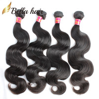 Peruvian Human Virgin Hair Extensions Body Wave Wavy Full Bu...