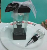 Boda regalar recuerdos Crystal Rose Wine Bottle Stopper regalos de boda para invitados 10 unids envío gratis