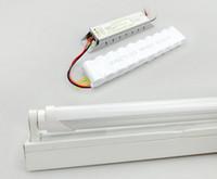 LED 18W emergenza Lampade T8 luce ricaricabile LED tubi arresto per 120 min Tubo + Fixture + Battary 25 pezzi
