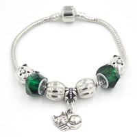 New Arrival Animal Pet Jewelry Wholesale DIY Interchangeable European Bead Style Charms Animal Pet Cat Charm Bracelets Jewelry
